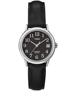 Easy Reader 25mm with Date Leather Watch Silver-Tone/Black large