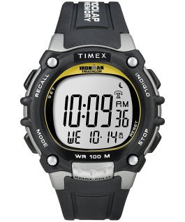 IRONMAN Classic 100 Full-Size Resin Strap Watch Silver-Tone/Black large