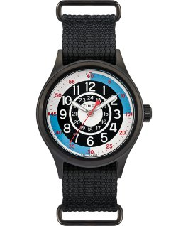 Timex x Todd Snyder Blackjack Inspired 40mm Fabric Strap Watch Black/White large