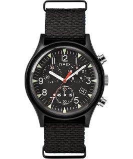 MK1 Aluminum Chronograph 40mm Nylon Strap Watch Black large