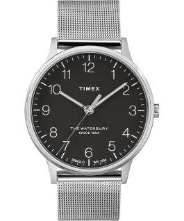Waterbury 40mm Classic Stainless Steel Watch Stainless-Steel/Black large