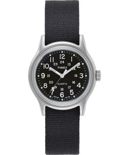 MK1 36mm Military inspired Grosgrain Strap Watch Silver-Tone/Black large