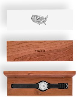 American Documents 41mm Leather Strap Watch Stainless-Steel/Black/White large