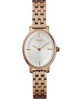 Milano Oval 24mm Stainless Steel Bracelet Watch Rose-Gold-Tone/Silver-Tone large