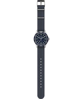 Navi Harbor 38mm Fabric Strap Watch Blue/Blue large