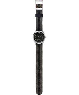 Whitney Village 36mm Reversible Grosgrain Strap Watch-1 Stainless-Steel/Black large