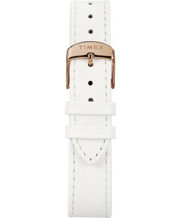 Montre Marlin Ladies 34 mm Mécanique à remontage manuel Bracelet en cuir Or rose/Blanc large