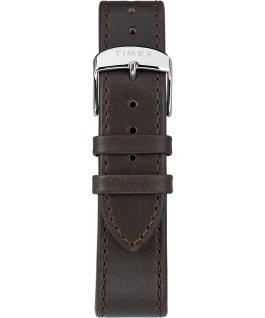 Reloj cronógrafo Standard de 41mm con correa de cuero Plateado/Marrón/Crema large