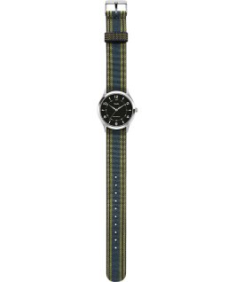 Whitney Village 38mm Grosgrain Strap with Black Dial Watch Stainless-Steel/Black large