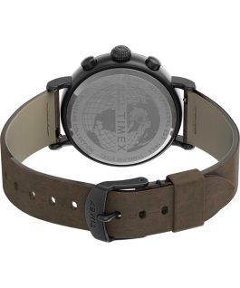 Orologio Standard Chronograph 41 mm con cinturino in pelle Canna di fucile/Marrone/Bianco large