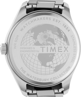 Waterbury Traditional 42mm Stainless Steel Bracelet Watch Stainless-Steel/Silver-Tone large