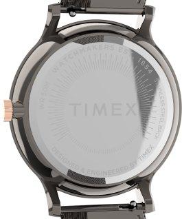 Montre Transcend Multifonction 38mm Bracelet à milanaise en acier inoxydable Gris métallique/Noir large
