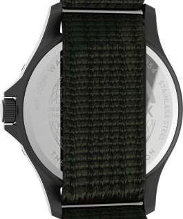 Reloj Navi XL de 41mm con correa deslizante de tela Gris plomo/Verde/Blanco large