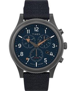 Allied LT Chronograph 42mm Fabric Strap Watch Gunmetal/Blue large