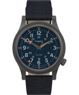 Allied LT 40mm Fabric Strap Watch Gunmetal/Blue large