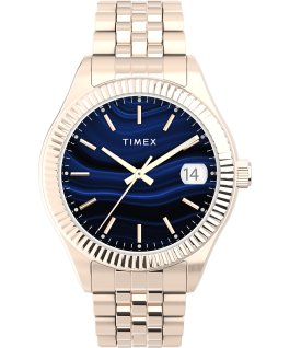 Waterbury Legacy 34mm Stainless Steel Bracelet Watch Rose-Gold-Tone/Blue large