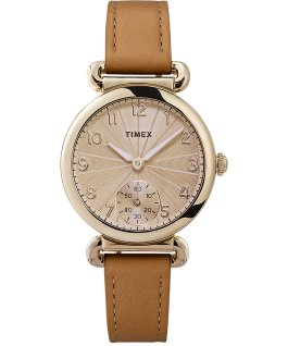 Model 23 33mm Leather Strap Watch Gold-Tone/Tan/Champagne large