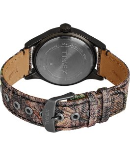 Timex x Mossy Oak Expedition Scout mit Stoffarmband, 40 mm Schwarz/braun large