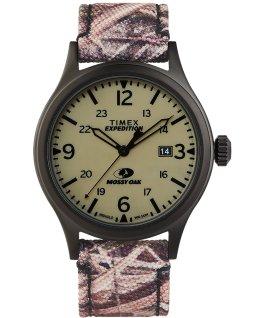 Timex x Mossy Oak Expedition Scout mit Stoffarmband, 40 mm Schwarz/braun/grün large