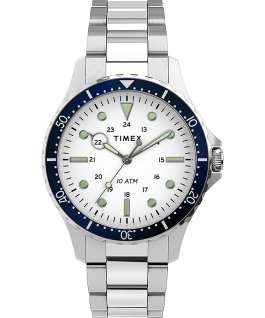 Navi XL 41mm Stainless Steel Bracelet Watch Stainless-Steel/White large