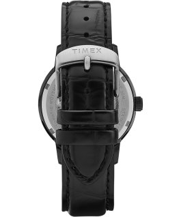 Marlin Automatic 40mm Leather Strap Watch with Day Date Black large