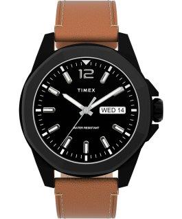 Essex Avenue 44mm Stainless Steel Bracelet Watch Black/Tan large