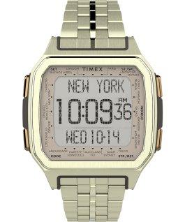 Zegarek Command Urban Metal 47 mm ze stalową bransoletą Złoty large