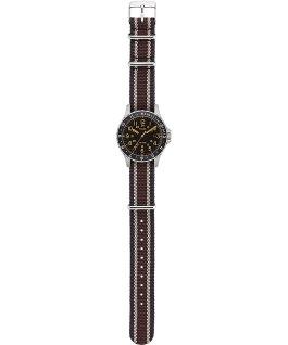 Reloj Navi Ocean de 38mm con correa de tela Negro/Marrón large