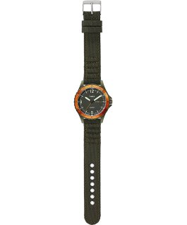 Navi Land 38mm Fabric Strap Watch Green/Green/Black large