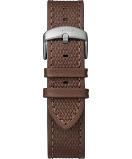 Expedition Ranger Solar 43mm Leather Strap Watch Silver-Tone/Brown/Gray/Green large