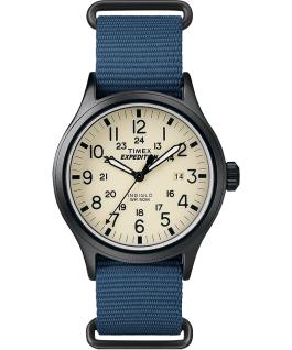 Expedition Scout 40mm Nylon Slip-Thru Strap Watch Black/Blue/Natural large