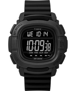 BST 47mm Silicone Strap Watch Black large