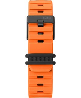 Montre BST 47mm Bracelet en silicone Orange/Noir large