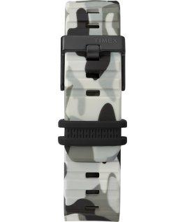 Zegarek BST z kopertą 47 mm i silikonowym paskiem Czarny/Moro large