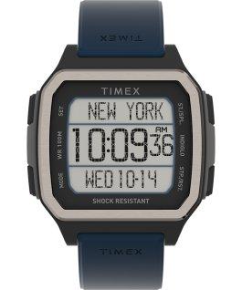 Zegarek Command Urban 47 mm z paskiem silikonowym Czarny/Niebieski large