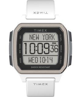 Zegarek Command Urban 47 mm z paskiem silikonowym Biały large