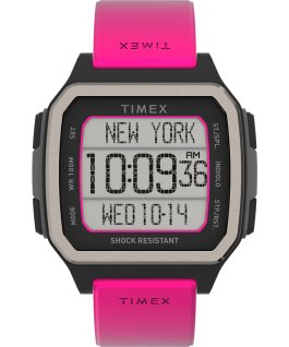 Zegarek Command Urban 47 mm z paskiem silikonowym Pomarańczowy/Różowy large