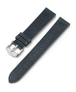 18mm Leather Band Black large