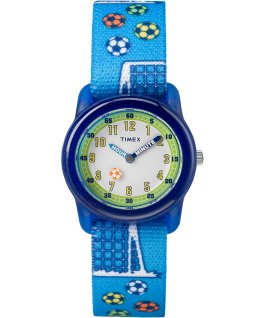 Kids Analog 32mm Nylon Strap Watch 1 Blue/White large