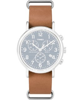 Replacement 20mm Leather Slip Thru Strap for Weekender Tan large