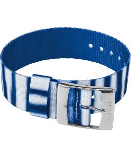 20mm Fabric Single Layer Slip Thru Strap with Tie Dye Pattern Blue large