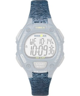 Replacement Resin 14mm Patterned Strap for Ironman Classic 30 Mid-Size Blue large
