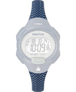 Replacement 12mm Resin Strap with Dots for Ironman Essential 10 Mid-Size Blue large