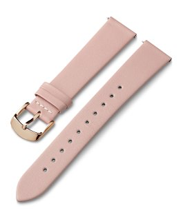 18mm Rose Gold Tone Buckle Leather Strap Pink large