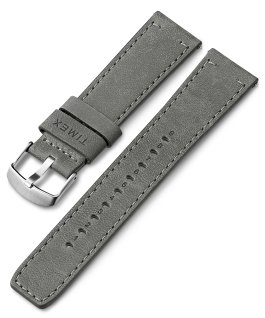 22mm Quick Release Leather Strap Gray large