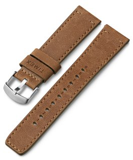 Bracelet en cuir à dégagement rapide 22mm Brun large