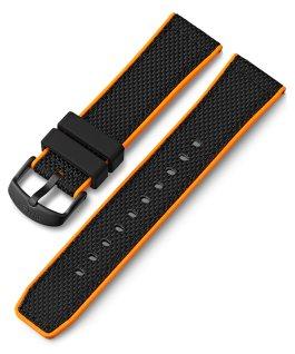 Bracelet en silicone à dégagement rapide 22mm Noir large