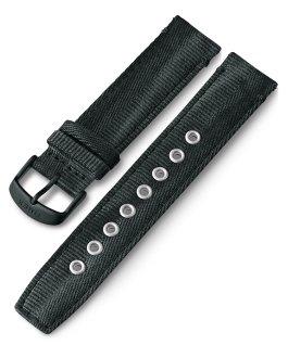 Bracelet en tissu à dégagement rapide 20mm Noir large