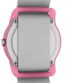 Montre analogique pour enfant TimexxSpace Snoopy 28mm Bracelet en tissu élastique Violet large