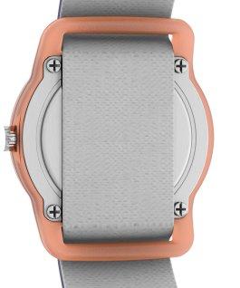 Montre analogique pour enfant TimexxSpace Snoopy 28mm Bracelet en tissu élastique Orange/Bleu large